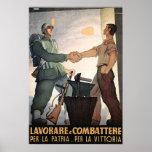 Soldado y trabajador póster