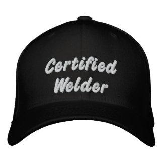 Soldador certificado gorra de beisbol