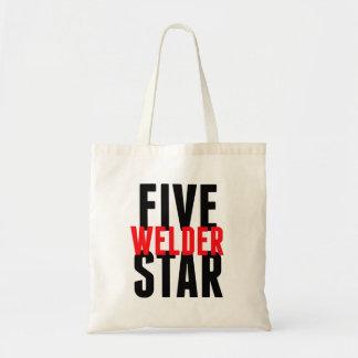 Soldador de cinco estrellas bolsa tela barata