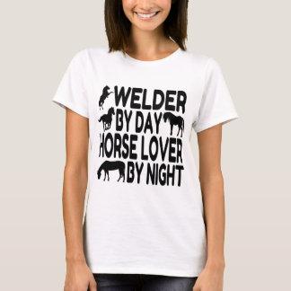 Soldador del amante del caballo playera
