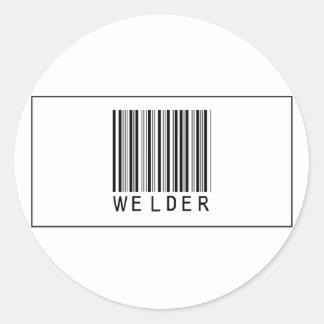 Soldador del código de barras pegatina redonda