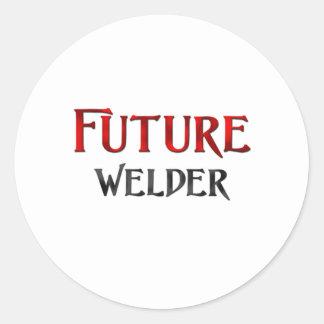 Soldador futuro pegatina redonda