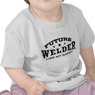 Soldador futuro camisetas