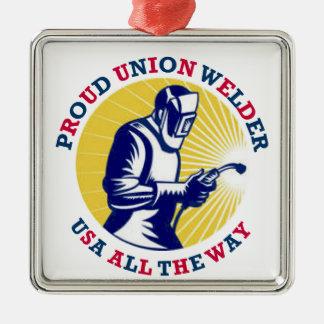 Soldador orgulloso los E E U U de la unión Ornamente De Reyes