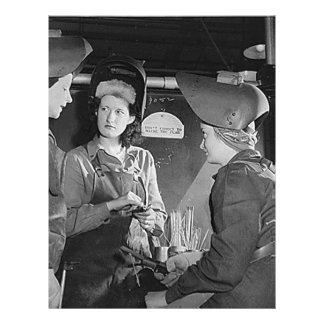 Soldadores de las mujeres membretes personalizados