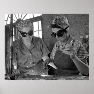 Soldadores de las mujeres WW2: 1942 Póster