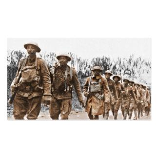 Soldados afroamericanos WWI Plantillas De Tarjeta De Negocio