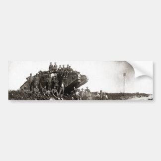 Soldados alemanes de WWI, el tanque inglés Pegatina Para Auto