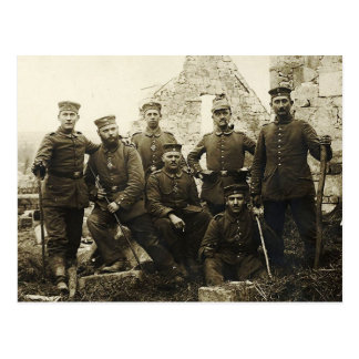 Soldados alemanes postal