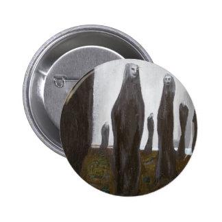 Soldados altos (surrealismo blanco y negro) pins