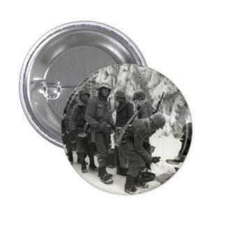 Soldados americanos de WWII en Bélgica Pin Redondo 2,5 Cm