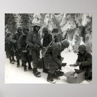 Soldados americanos de WWII en Bélgica Poster