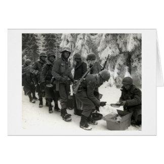 Soldados americanos de WWII en Bélgica Tarjetón