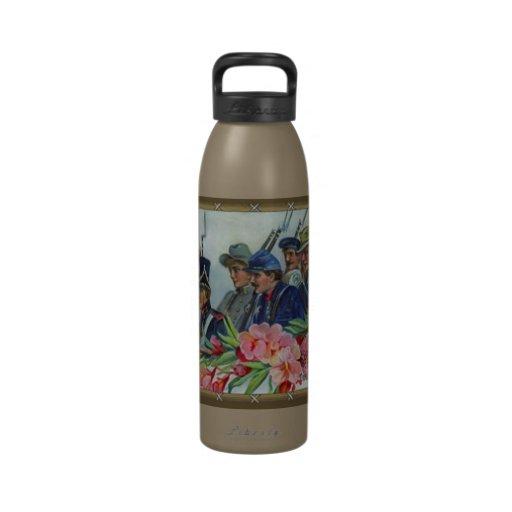 soldados americanos retros botella de agua reutilizable