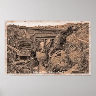 Soldados británicos de la Primera Guerra Mundial d Posters