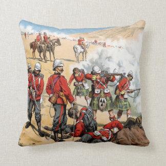 Soldados británicos del siglo XIX Cojín