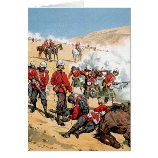Soldados británicos del siglo XIX Tarjeta De Felicitación