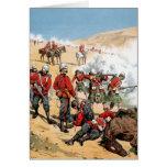 Soldados británicos del siglo XIX Tarjeton
