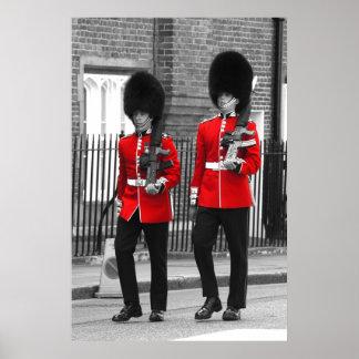 Soldados británicos en el poster del desfile