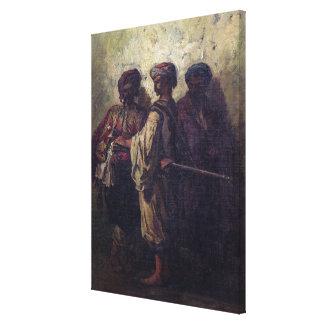 Soldados búlgaros lona envuelta para galerias
