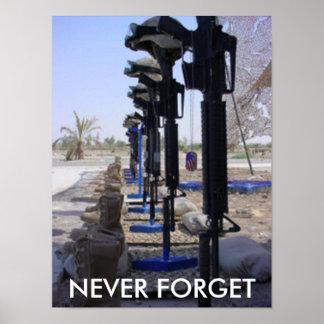 Soldados caidos infantes de marina póster