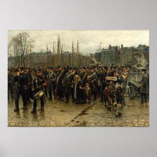 soldados coloniales Isaac Israëls Póster