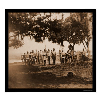 Soldados confederados y armas en Charleston, SC 18 Posters