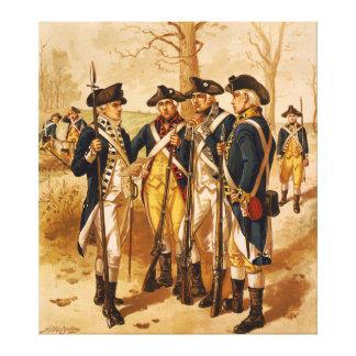 Soldados continentales de Henry Alexander Ogden Lona Envuelta Para Galerías