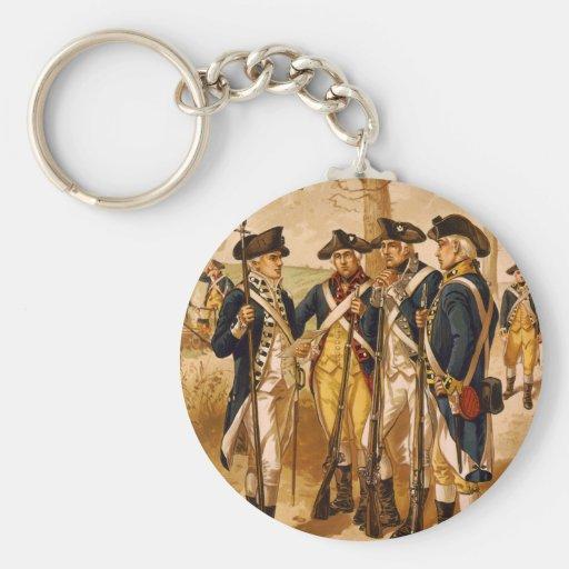 Soldados continentales de Henry Alexander Ogden Llavero Personalizado