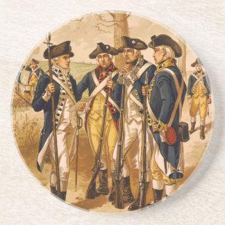 Soldados continentales de Henry Alexander Ogden Posavasos Personalizados