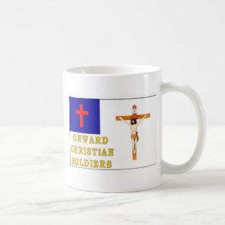 SOLDADOS CRISTIANOS HACIA ADELANTE TAZA BÁSICA BLANCA