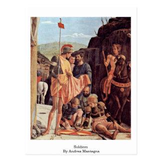 Soldados de Andrea Mantegna Postales