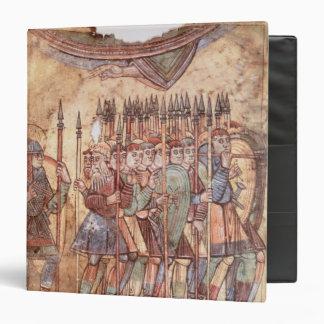 """Soldados de infantería en las cruzadas carpeta 1 1/2"""""""