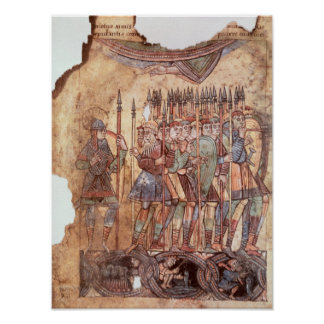 Soldados de infantería en las cruzadas posters