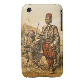 Soldados de infantería turcos en el ejército del o iPhone 3 Case-Mate fundas