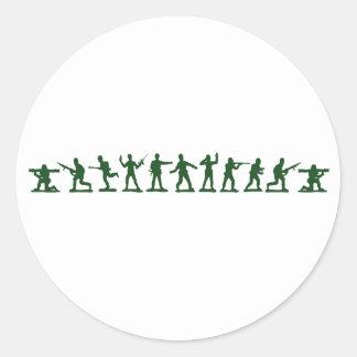 Soldados de juguete clásicos pegatina redonda