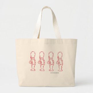 Soldados de juguete rojos bolsas de mano