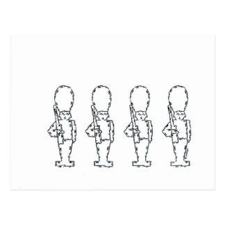 Soldados de juguete postal