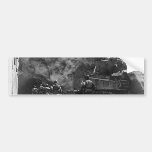 Soldados de la 55.a Segunda Guerra Mundial de la i Etiqueta De Parachoque