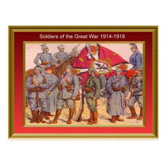 Soldados de la gran guerra 1914-1918 1 tarjetas postales