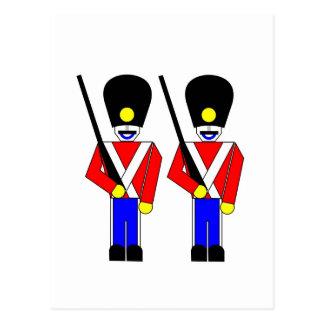Soldados de la guardia reales tarjeta postal