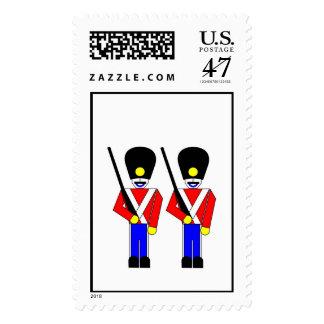 Soldados de la guardia reales timbres postales