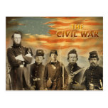 Soldados de la guerra civil americana postal