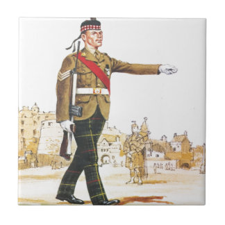 Soldados de la reina, sargento, escocés real azulejo cuadrado pequeño