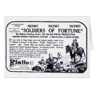 Soldados de la tarjeta 1919 del anuncio de la pelí