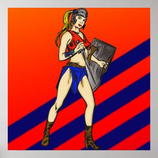 Soldados de las mujeres del Amazonas Poster
