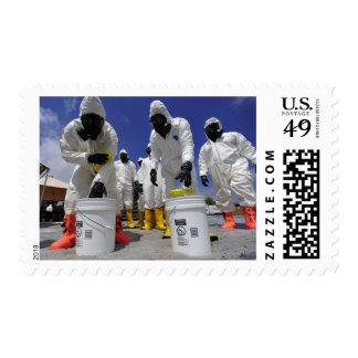 Soldados de los E.E.U.U. del 457o batallón químico Timbres Postales