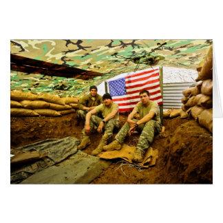 Soldados de OEF Tarjeta De Felicitación