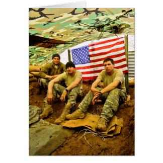 Soldados de OEF Tarjeton