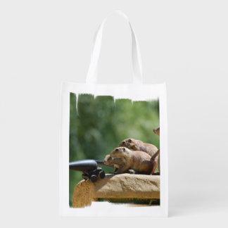 Soldados de perro de las praderas bolsa reutilizable